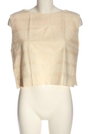 MNG ärmellose Bluse creme Streifenmuster Casual-Look
