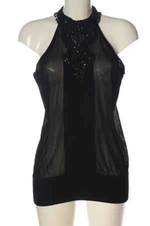 MNG ärmellose Bluse schwarz Elegant