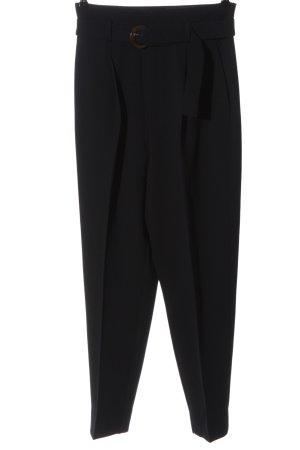 MNG Luźne spodnie czarny W stylu biznesowym