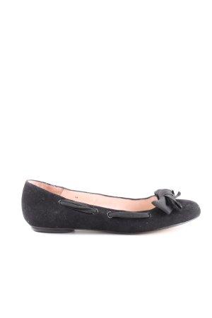 MNG Ballerinas mit Spitze schwarz Business-Look