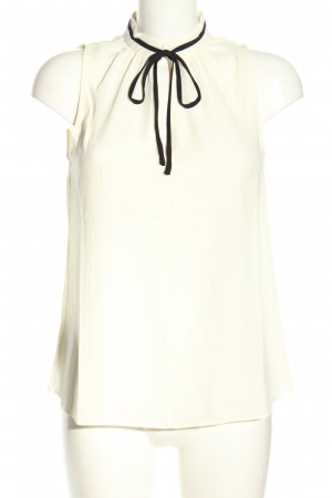 MNG Basics ärmellose Bluse weiß-schwarz Casual-Look