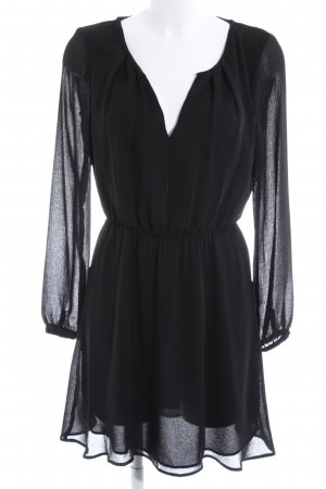 MNG Basics Chiffonkleid schwarz Elegant