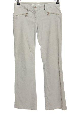 MNG Basics Pantalón de pana gris claro look casual