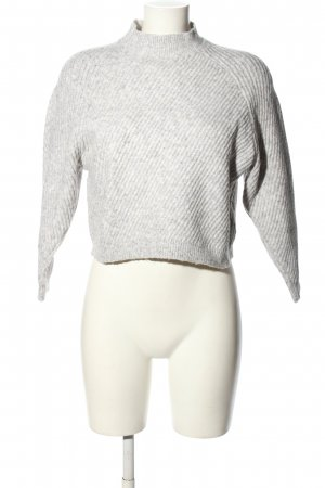 MNG Basics Cropped Pullover hellgrau Casual-Look