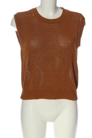MNG Basics Cardigan en maille fine brun style décontracté