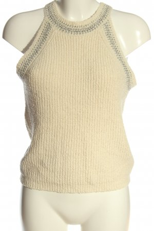 MNG Basics Knitted Top cream cable stitch casual look