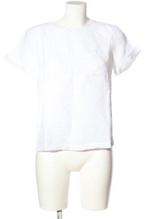 MNG Basics Kurzarm-Bluse weiß Casual-Look