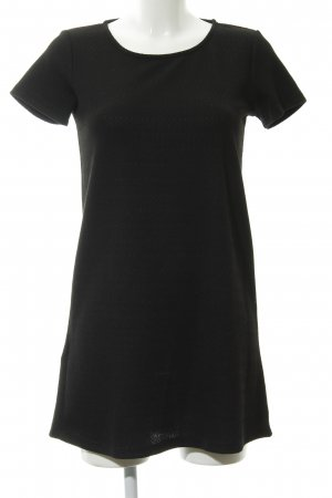 MNG Basics Kurzarmkleid schwarz Elegant