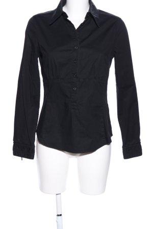 MNG Basics Langarm-Bluse schwarz Business-Look