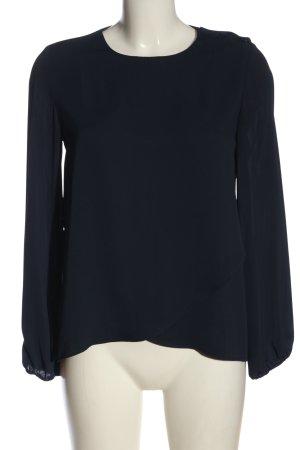 MNG Basics Langarm-Bluse blau Casual-Look