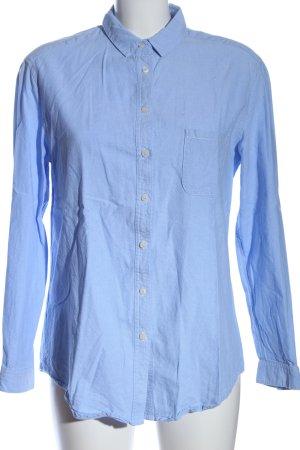 MNG Basics Langarmhemd blau Business-Look