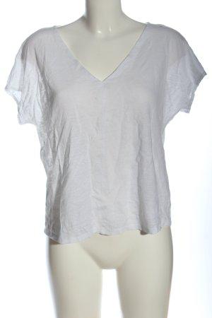 MNG Basics Blusa de lino blanco look casual