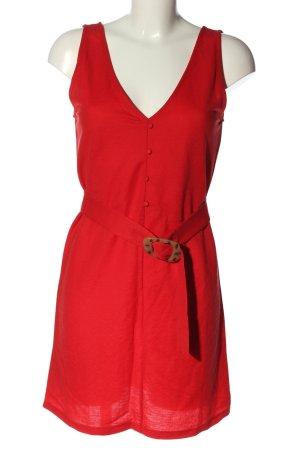 MNG Basics Minikleid rot-braun Casual-Look