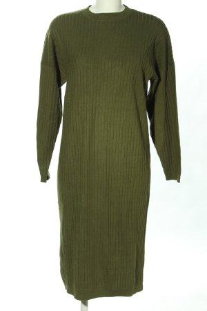 MNG Basics Sweaterjurk khaki casual uitstraling