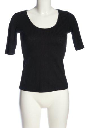 MNG Basics Camisa acanalada negro look casual