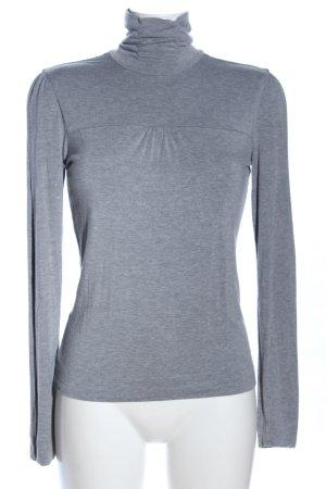 MNG Basics Maglia a collo alto grigio chiaro puntinato stile casual