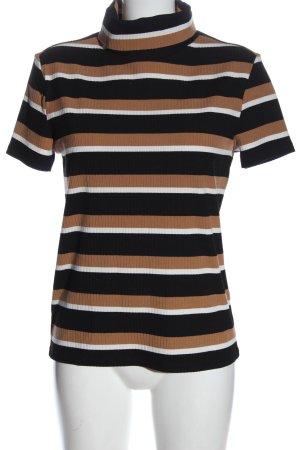 MNG Basics Turtleneck Shirt striped pattern elegant
