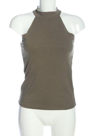 MNG Basics Neckholder Top light grey striped pattern casual look