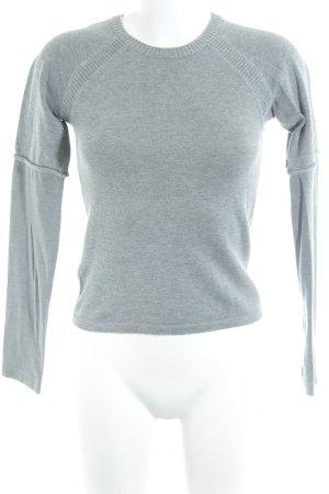 MNG Basics Rundhalspullover grau Casual-Look