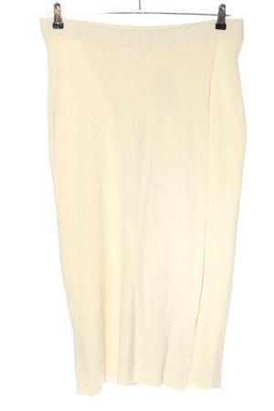 MNG Basics Spódnica z dzianiny kremowy W stylu casual