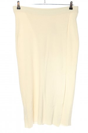 MNG Basics Falda de punto crema look casual