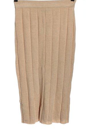 MNG Basics Spódnica z dzianiny nude W stylu casual