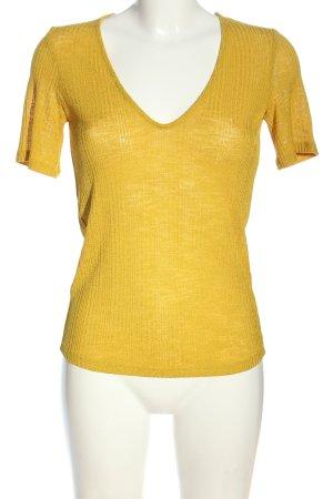 MNG Basics Strickshirt blassgelb Casual-Look