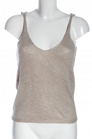 MNG Basics Knitted Top silver-colored flecked casual look