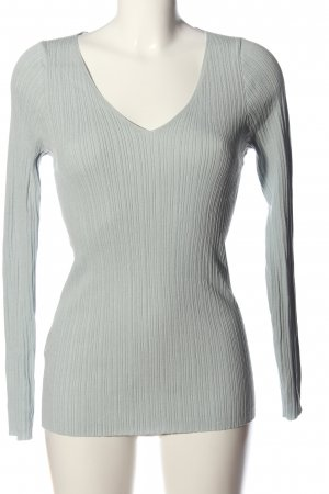 MNG Basics Pull col en V gris clair style décontracté