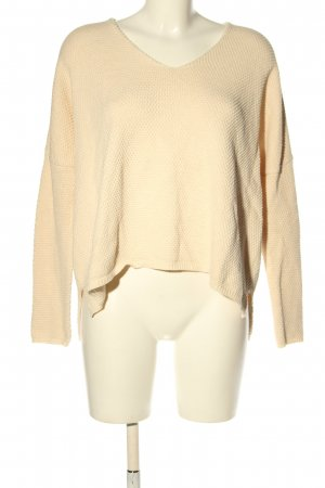 MNG Basics V-Ausschnitt-Pullover nude Casual-Look