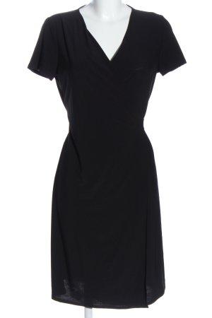 MNG Basics Vestido cruzado negro look casual