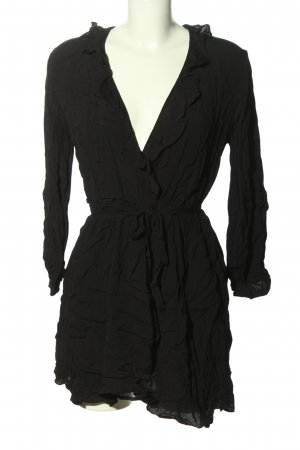 MNG Blusenkleid schwarz Casual-Look