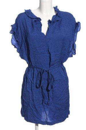 MNG Blusenkleid blau Casual-Look