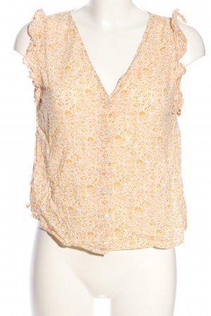 MNG Blusentop creme-hellorange Allover-Druck Casual-Look