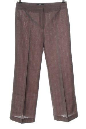 MNG Bundfaltenhose braun-rot Streifenmuster Business-Look