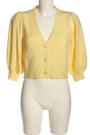MNG Kardigan bladożółty W stylu casual