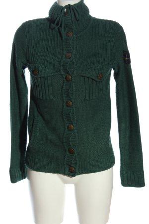 MNG Cardigan grün Zopfmuster Casual-Look