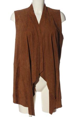MNG Chaleco de vestir marrón look casual