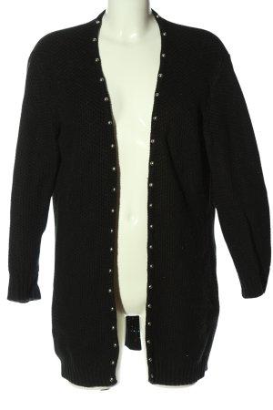MNG Cardigan schwarz meliert Elegant
