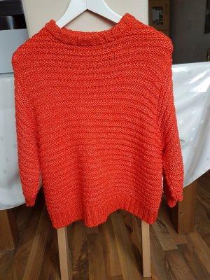 MNG Swetrowa sukienka pomarańczowy