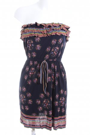 MNG Casual Sportswear Bustierkleid Allover-Druck Casual-Look