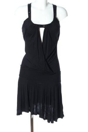 MNG Casual Sportswear Cocktailkleid schwarz extravaganter Stil