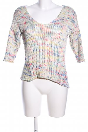 MNG Casual Sportswear Grobstrickpullover Allover-Druck Casual-Look