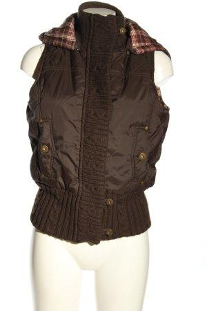 MNG Casual Sportswear Chaleco con capucha marrón look casual