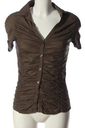 MNG Casual Sportswear Kurzarmhemd braun Business-Look