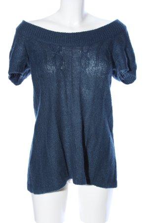 MNG Casual Sportswear Kurzarmpullover blau Casual-Look