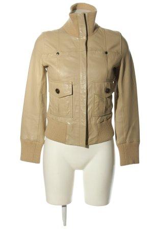 MNG Casual Sportswear Lederjacke creme Casual-Look