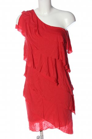 MNG Casual Sportswear One-Shoulder-Kleid rot Elegant