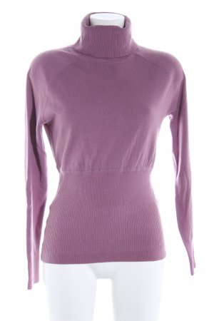 MNG Casual Sportswear Rollkragenpullover lila Casual-Look