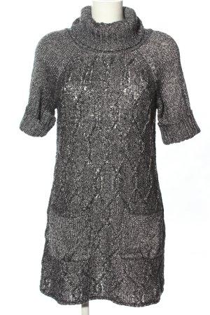 MNG Casual Sportswear Strickkleid schwarz meliert Casual-Look